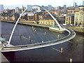 NZ2563 : Gateshead Millennium Bridge by HENRY CLARK