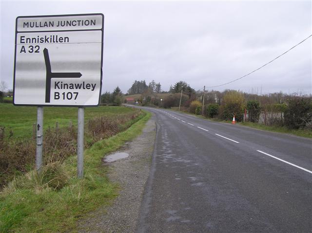 Swanlinbar Road at Mullan