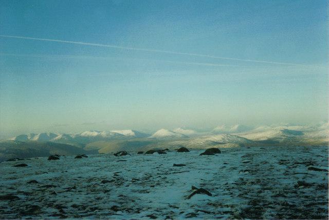 Looking NE towards the Monadhliath Mountains