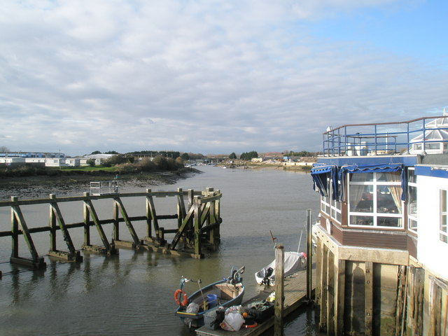 View up the Arun from the retractable bridge