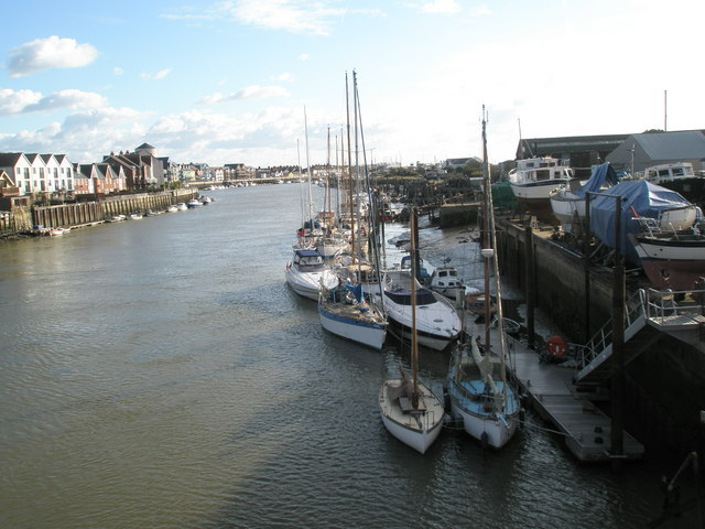 Delightful boats as seen from the retractable bridge