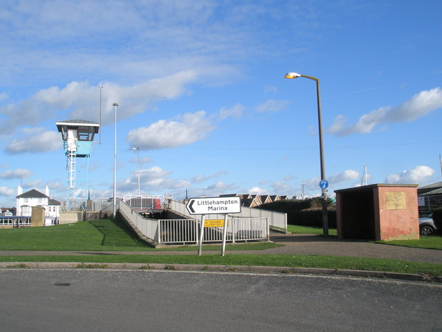 Looking towards the retractable bridge from the turning to the marina