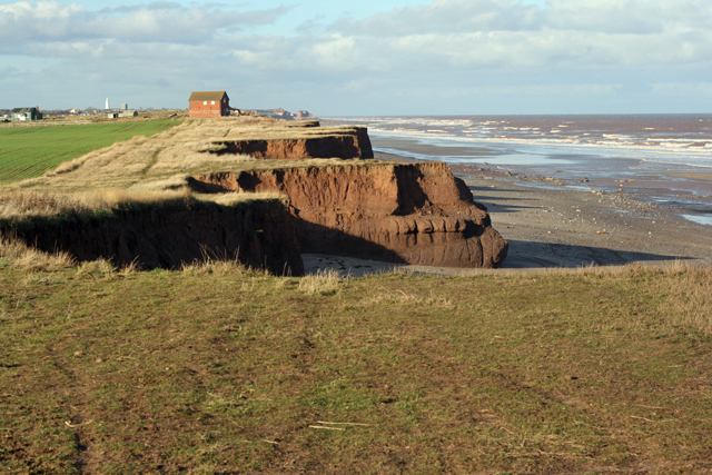 Coastal erosion south of Intack farm