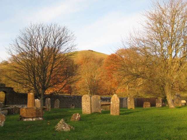View from the graveyard - Cerne Abbas