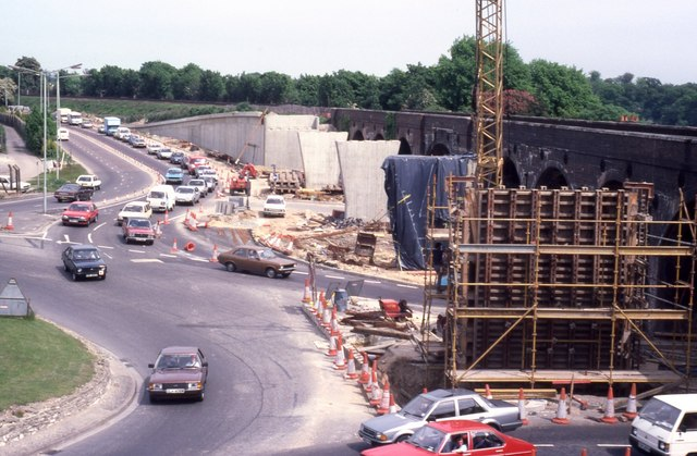 Construction of the Eastern Way flyover (1)