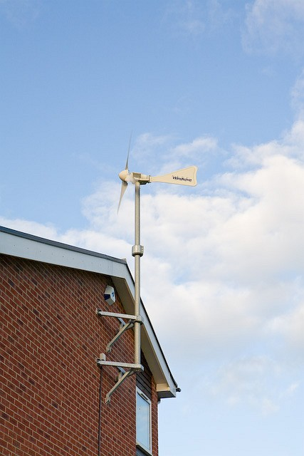 Windsave micro-wind turbine on Baden Powell Lodge