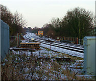 TM3863 : Railway with siding, Saxmundham by John Goldsmith