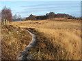 NS3778 : Footpath alongside Carman Reservoir by Lairich Rig