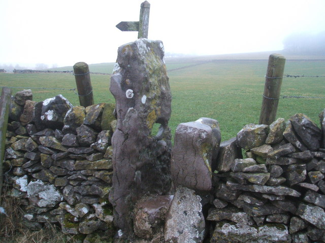Stile with water worn hole