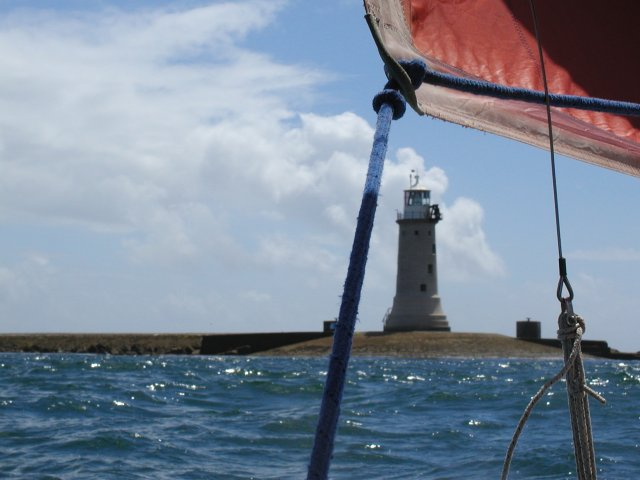 Plymouth breakwater and lighthouse