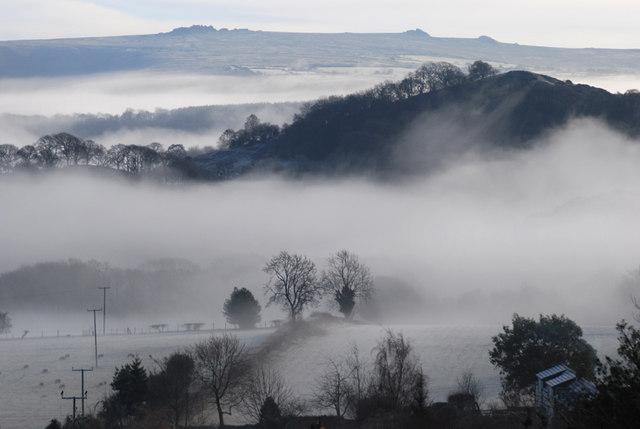 The Hope Valley under mist