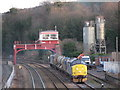 NY9464 : Sidings east of Hexham station - in use by Mike Quinn