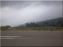 SH5730 : Harlech castle from the beach by DS Pugh