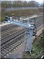 SU6452 : Signal gantry - Basingstoke east by Sandy B
