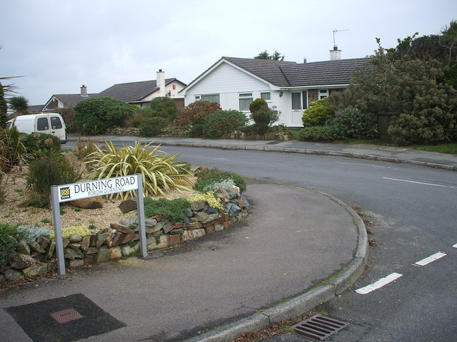 Junction of  Durning Road with Lawrence Road.