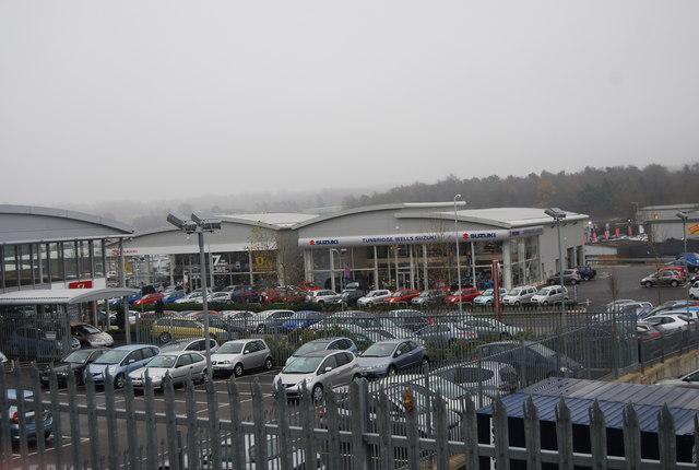 Suzuki car dealers, North Farm estate by N Chadwick
