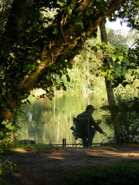 Fisherman at Woodland Waters