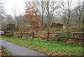 TQ5942 : Ruined farm buildings, Barnett's Wood Nature Reserve. by N Chadwick