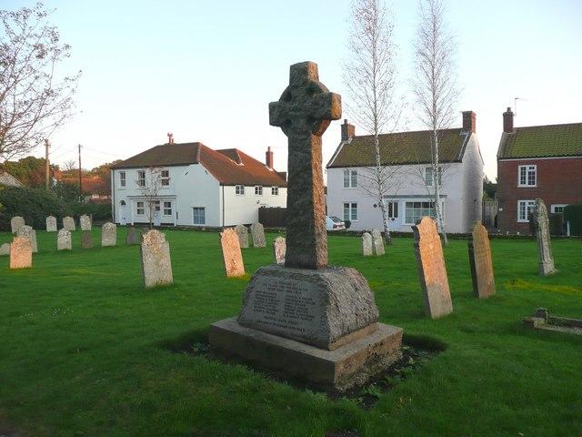 War memorial, St Botolph's Church, Trunch