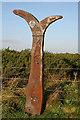 NY1465 : A milepost at Powfoot by Walter Baxter