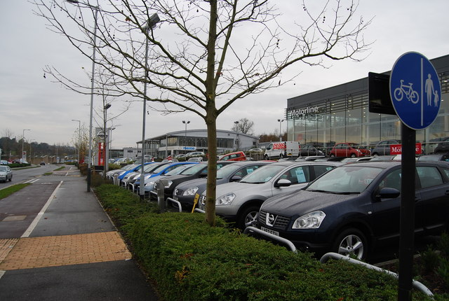 Japanese car dealerships, North Farm Estate by N Chadwick