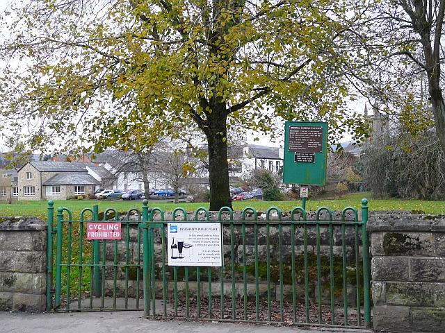 Entrance to Memorial Gardens