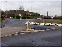 SO8864 : Stonebridge Cross island. by Mike Dodman
