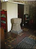 SD7656 : St Bartholomew Church, Tosside, Font by Alexander P Kapp