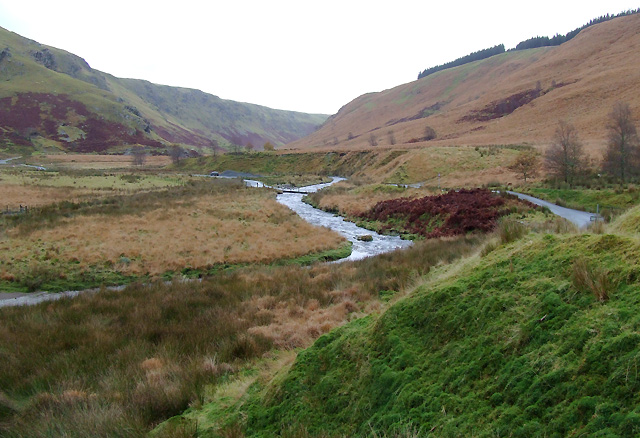 The Afon Irfon looking towards Abergwesyn, Powys