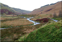 SN8355 : The Afon Irfon looking towards Abergwesyn, Powys by Roger  Kidd