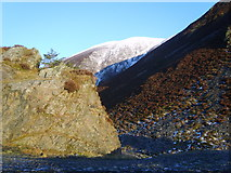 NY2427 : Rock, Heather and Snow by Michael Graham