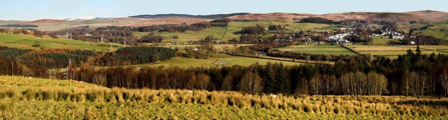Panoramic view of St John's Town of Dalry