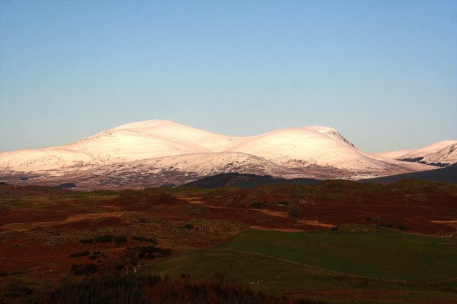 Snow covered Cairnsmore Of Carsphairn
