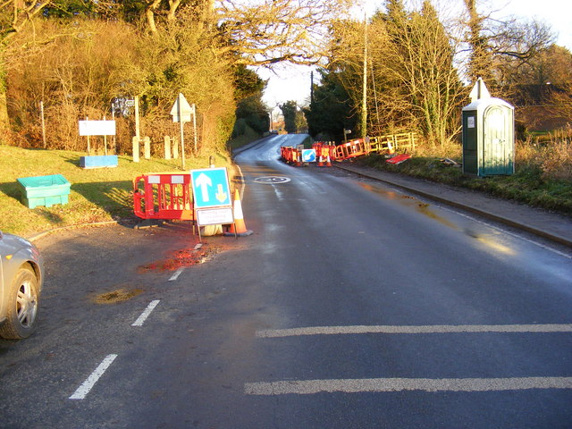 Ongoing Roadworks on A1120 at Peasenhall