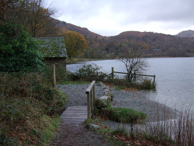 Boathouse and footpath at Grasmere