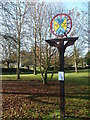 TL3862 : Village Sign Dry Drayton by Michael Trolove