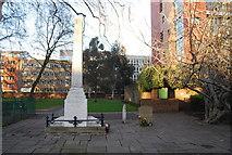 TQ3282 : William Blake's Memorial, Bunhill Field Burial Ground by N Chadwick