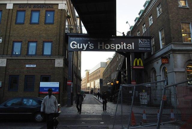 Entrance to Guy's Hospital, Great Maze Pond