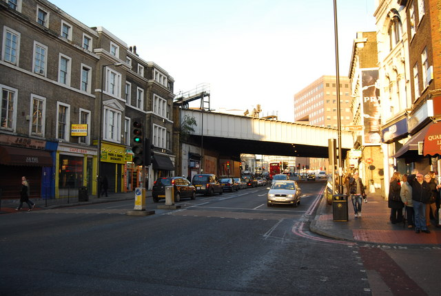 Railway bridge, Borough High St.