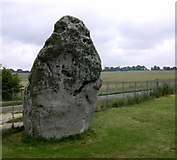 SU1242 : The Heel Stone and King Barrows, Stonehenge by John Goldsmith