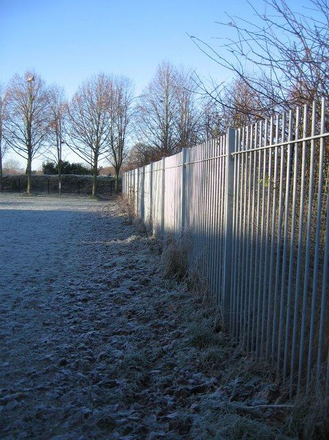 Fence & early morning frost by Sandy B