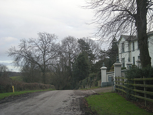 The lane past Greyfields Court