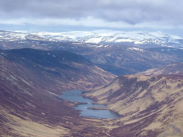 Loch Loch from summit of Ben Vuirich