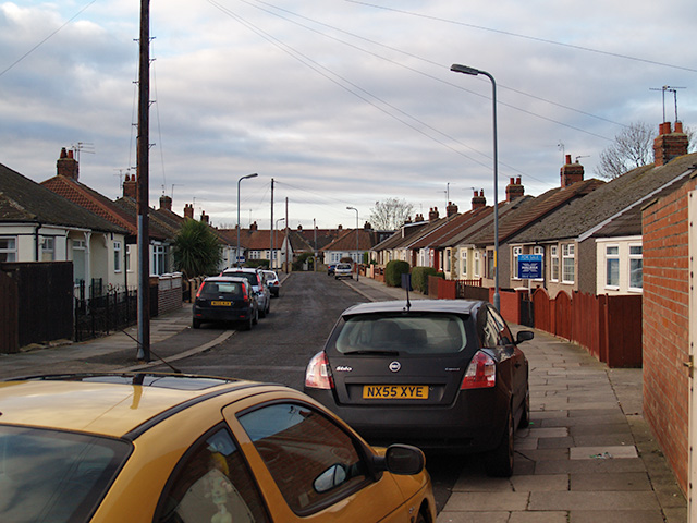 View down Leamington Grove