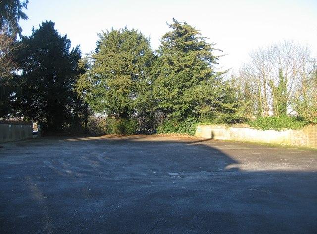 Empty office car park