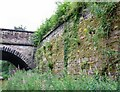 SJ9594 : Old Railway Wall by Gerald England