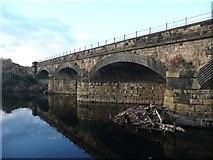 SE2119 : Railway bridge over the River Calder, Steanard Lane, Mirfield by Humphrey Bolton