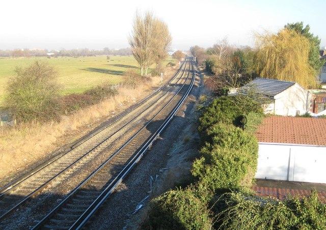 Upper Halliford: Shepperton branch line railway