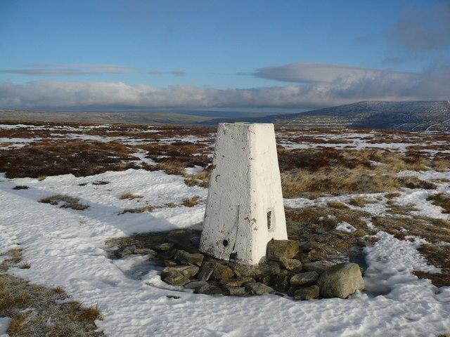 Trig pillar on Old Cote Moor