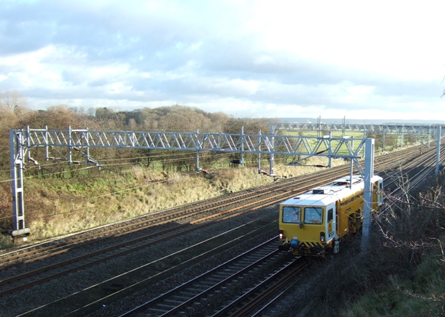 Engineering train on the West Coast mainline